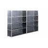 欧式时尚组合型不锈钢双排书柜文件柜展示柜