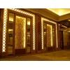 电镀不锈钢电梯门门头花、玫瑰金酒店大门