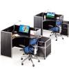欧式时尚组合型不锈钢单人转角办公桌