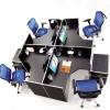 欧式时尚组合型不锈钢四人转角办公桌