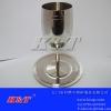 厂家直销精美304不锈钢银边高脚杯/红酒杯葡萄酒杯