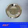精美圆形304不锈钢金边碟子红酒杯碟圆形碟不锈钢碟杯垫